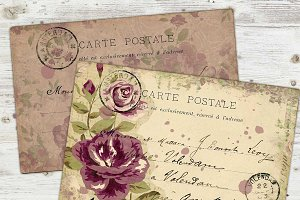 Floral Postcards Printable PDF