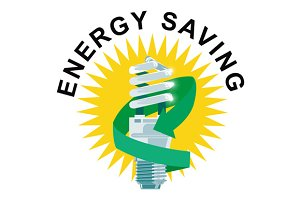 Energy Saving Label Lightbulb