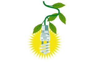 Lightbulb with Leaves