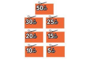 Scissors Cutting Coupon Per Cent