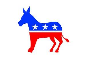 Donkey Mascot American Flag