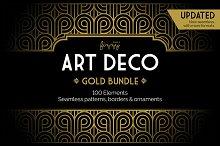 100 x Art Deco Gold Bundle