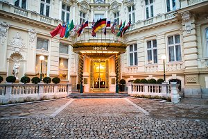 Luxury international european hotel