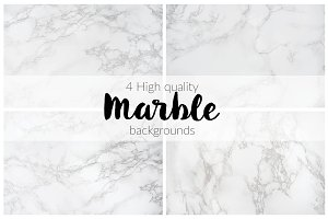 BUNDLE: 4 Marble Backgrounds