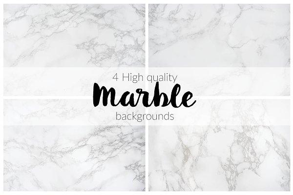 BUNDLE: 4 Marble Backgrounds