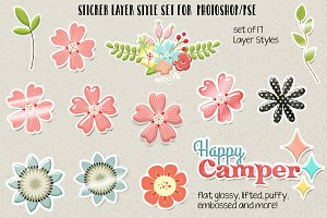 Sticker Layer Styles for PS/PSE