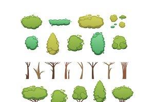 Nature vector cut tree design