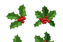 Christmas berry decoration vector