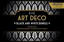 75 x Art Deco Black & White Bundle