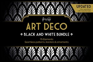 75 x Art Deco Black & White Bundle