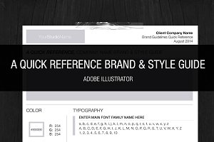 Brand & Style One Page Guideline