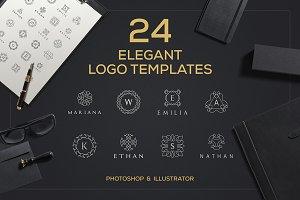 24 Elegant Logo Templates
