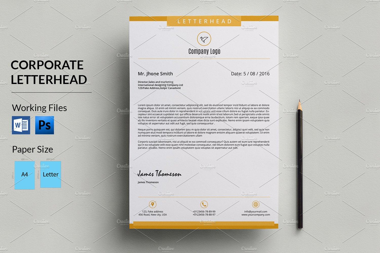 corporate letterhead template v05 stationery templates creative