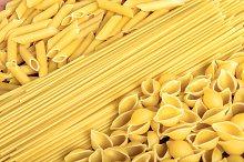 shapes of Italian pasta