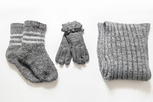 Winter clothes and accessories