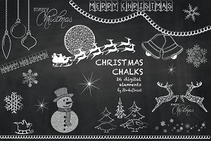 Christmas Chalkboard Cliparts