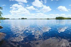 Summer Lake Rutajarvi (Finland).