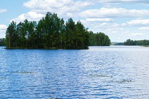 Summer Lake Rutajarvi (Finland).