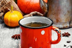 Still life autumn tea party