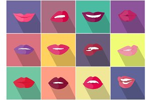 Lips with Expression of Emotions