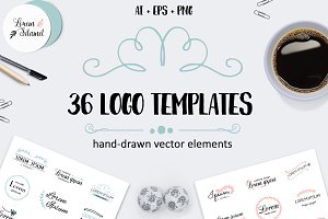 Vector logo templates. Logotypes