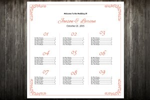 wedding seating chart 13 tables brochure templates creative market