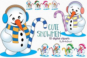 Cute Snowman Illustrations
