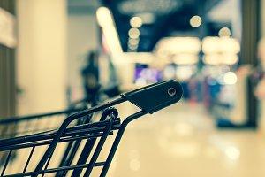 Shopping cart close up
