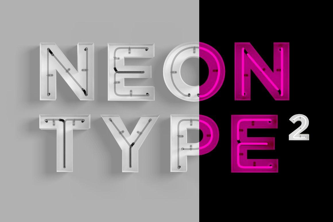 Neon Type 2 Graphics Creative Market