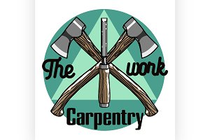 Color vintage Carpenter emblem