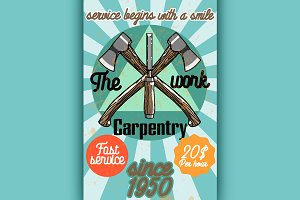 Color vintage Carpenter poster