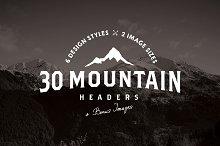30 Mountain Hero/Headers (+ BONUS)