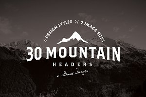 30 Mountain Hero/Headers (+ BONUS)