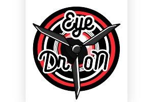 Color vintage Quadrocopter emblem