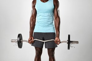 Young african man working out