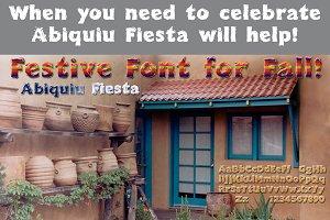 Abiquiu Fiesta: happy font!