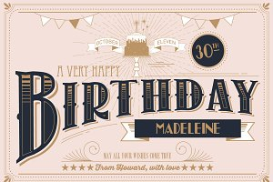 birthday greeting card template
