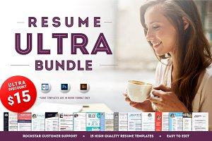 15 Resume Templates - Ultra Bundle