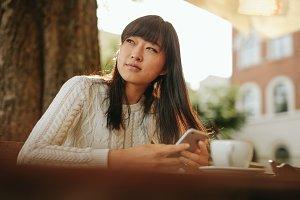 Beautiful young asian woman