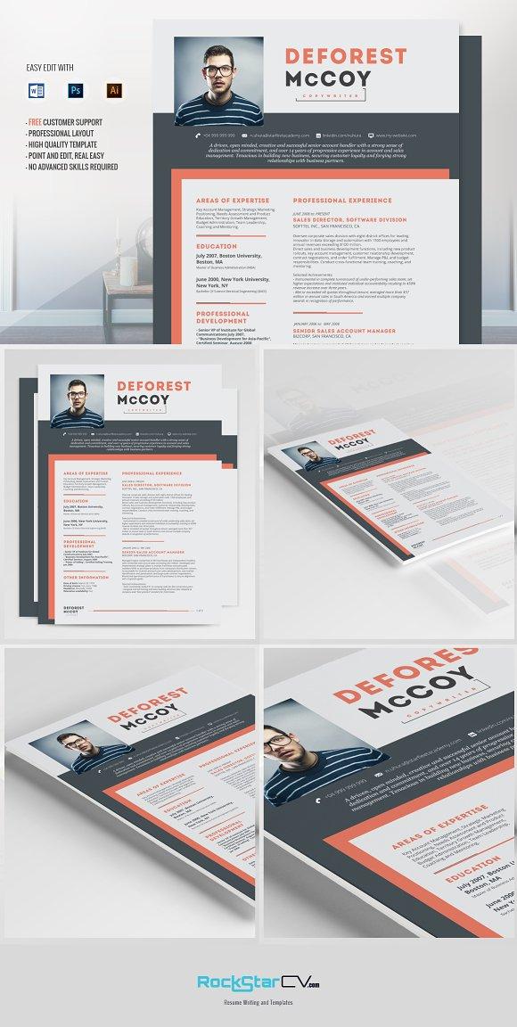 resume template kraz resume templates creative market