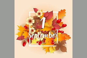 First September Autumn Background.