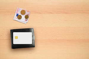 Wallet, money and credit card