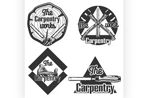 vintage carpentry emblems.