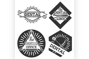 Vintage dental emblems