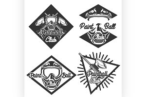 Vintage paintball emblems