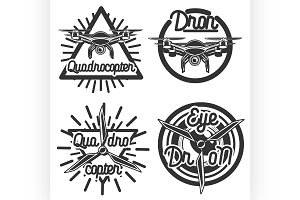 Vintage Quadrocopter emblems