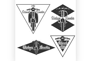 Vintage scooter emblems
