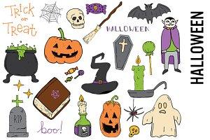 Halloween Doodle Clipart