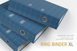 Ring Binder Large Mock-Up