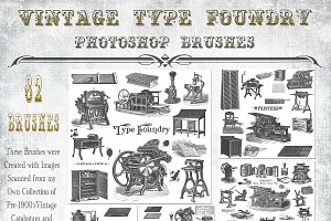 Vintage Type Foundry PS Brushes